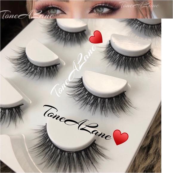 30d3b58864a Makeup   4 Pairs False Eyelashes Lashes Mink Fluffy Lashes   Poshmark